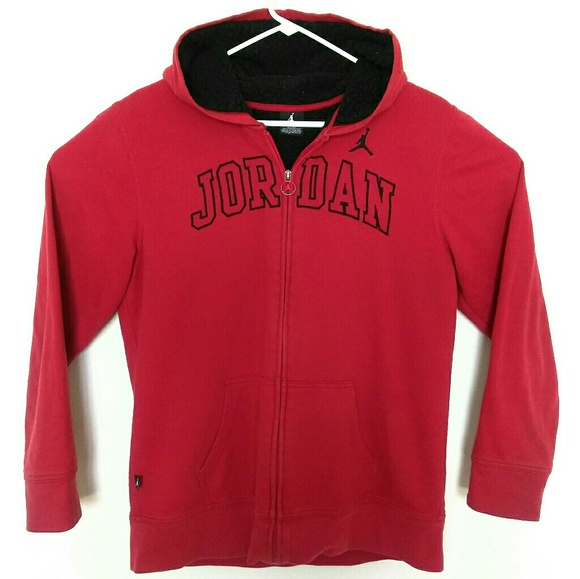 Jordan Jackets   Blazers - Air Jordan Womens XL Spellout Hoodie Jacket Red eeb98dc479